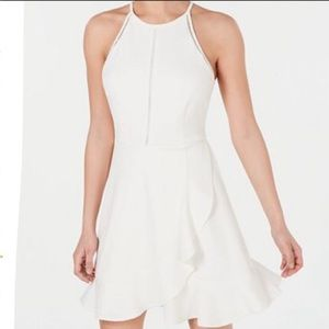 Speechless Scuba Crepe Fit&Flare white dress Small